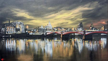 London Lit Up - Print Original